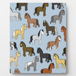 Cute Herd of Horses Plaque