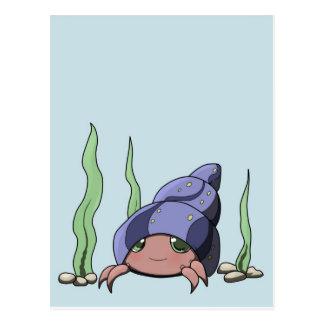 Cute hermit crab postcard
