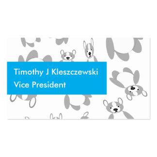 Cute Hip Boston Terrier Design Business Card