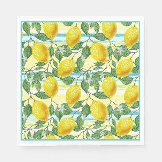 Cute Hip Tropical Summer Lemon Fruit Pattern Disposable Napkin