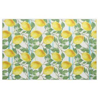 Cute Hip Tropical Summer Lemon Fruit Pattern Fabric