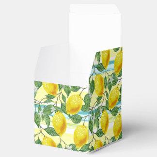 Cute Hip Tropical Summer Lemons Fruit Pattern Favor Box