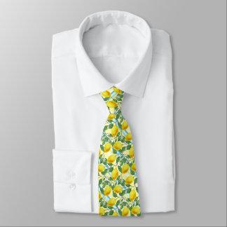 Cute Hip Tropical Summer Lemons Fruit Pattern Tie