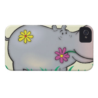 cute hippie hippo iPhone 4 case
