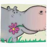 cute hippie hippo notebook binders