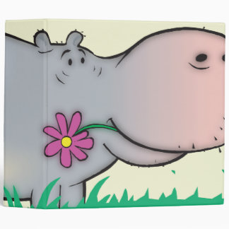 cute hippie hippo notebook binders