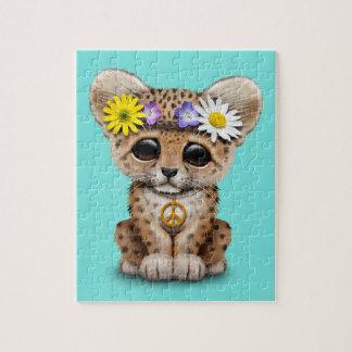 Cute Hippie Leopard Cub Jigsaw Puzzle