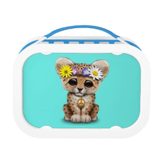 Cute Hippie Leopard Cub Lunch Box