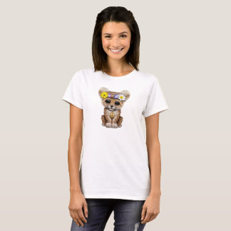 Cute Hippie Leopard Cub T-Shirt