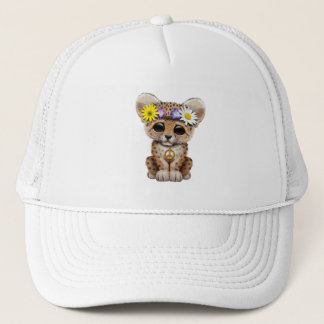 Cute Hippie Leopard Cub Trucker Hat