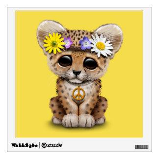 Cute Hippie Leopard Cub Wall Decal