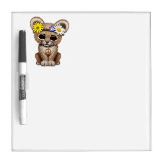 Cute Hippie Lion Cub Dry Erase Board