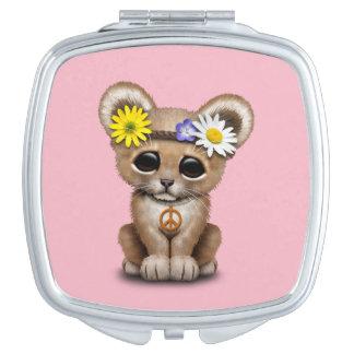 Cute Hippie Lion Cub Mirror For Makeup