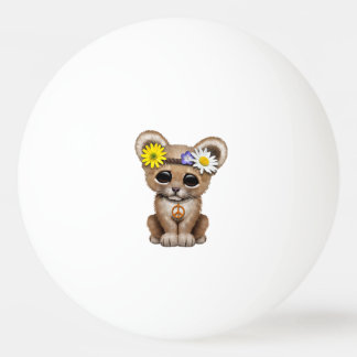 Cute Hippie Lion Cub Ping Pong Ball