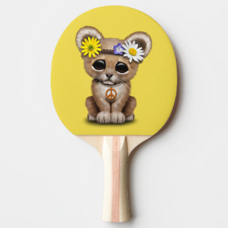Cute Hippie Lion Cub Ping Pong Paddle
