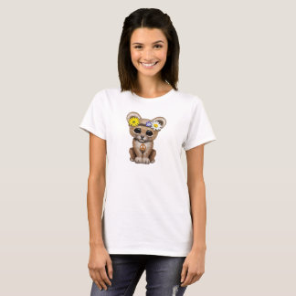 Cute Hippie Lion Cub T-Shirt