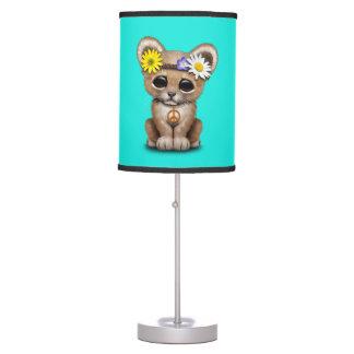 Cute Hippie Lion Cub Table Lamp