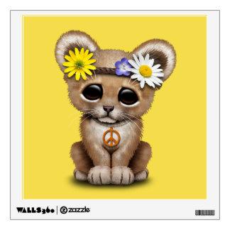 Cute Hippie Lion Cub Wall Sticker