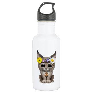 Cute Hippie Lynx Cub 532 Ml Water Bottle
