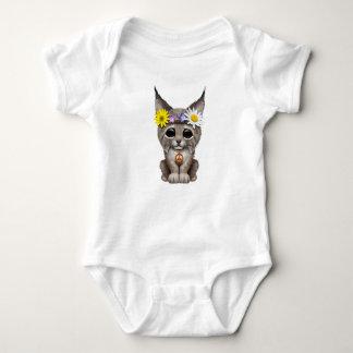 Cute Hippie Lynx Cub Baby Bodysuit