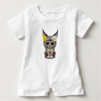 Cute Hippie Lynx Cub Baby Romper