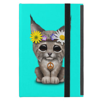 Cute Hippie Lynx Cub Case For iPad Mini