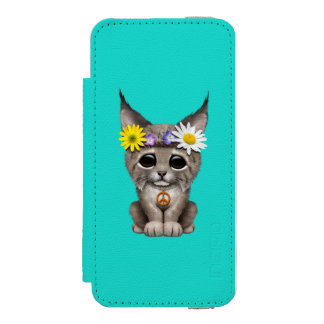 Cute Hippie Lynx Cub Incipio Watson™ iPhone 5 Wallet Case
