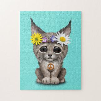 Cute Hippie Lynx Cub Jigsaw Puzzle