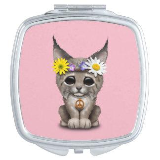 Cute Hippie Lynx Cub Makeup Mirror