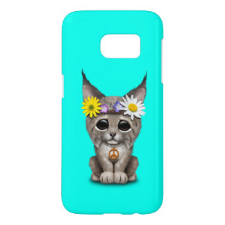 Cute Hippie Lynx Cub Samsung Galaxy S7 Case