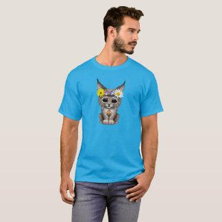 Cute Hippie Lynx Cub T-Shirt