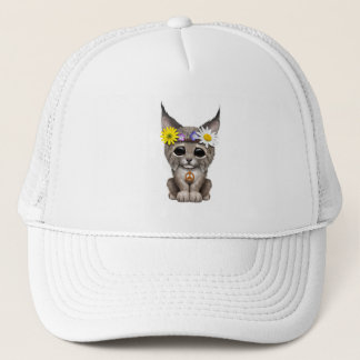 Cute Hippie Lynx Cub Trucker Hat