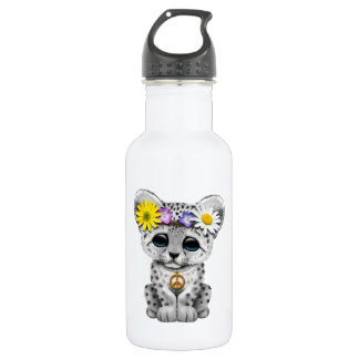 Cute Hippie Snow leopard Cub 532 Ml Water Bottle