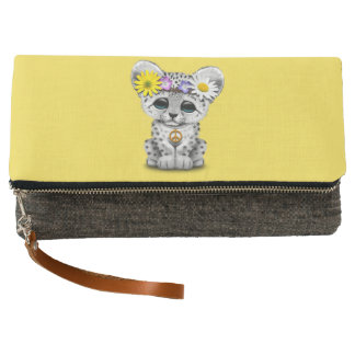 Cute Hippie Snow leopard Cub Clutch