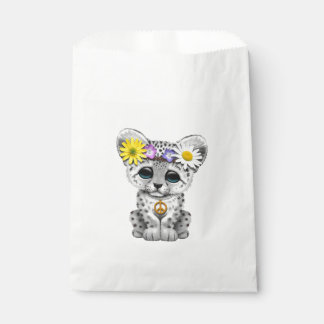 Cute Hippie Snow leopard Cub Favour Bag