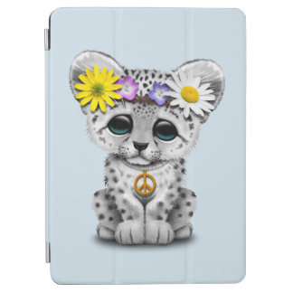 Cute Hippie Snow leopard Cub iPad Air Cover