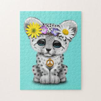 Cute Hippie Snow leopard Cub Jigsaw Puzzle