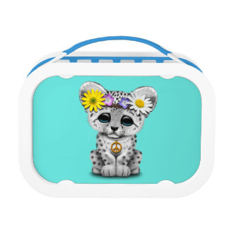 Cute Hippie Snow leopard Cub Lunch Box