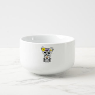 Cute Hippie Snow leopard Cub Soup Mug