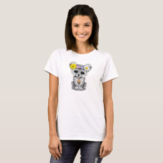 Cute Hippie Snow leopard Cub T-Shirt