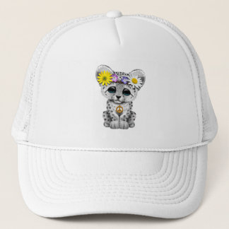 Cute Hippie Snow leopard Cub Trucker Hat
