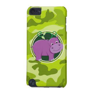 Cute Hippo bright green camo camouflage iPod Touch 5G Case