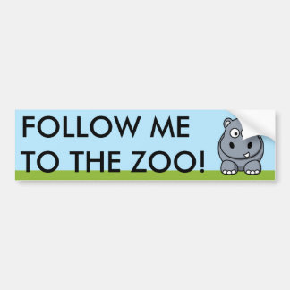Cute Hippo Bumper Sticker