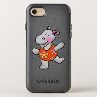 cute hippo girl in swim suit OtterBox symmetry iPhone 7 case