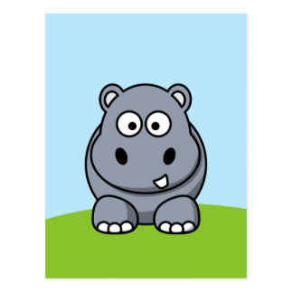 Cute Hippo Postcard