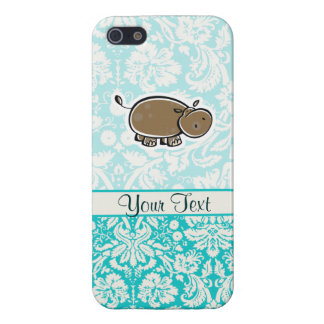 Cute Hippo; Teal Case For iPhone 5/5S