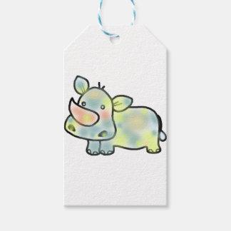 Cute hippopotamus gift tags
