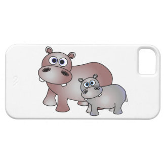Cute Hippopotamus Mom and Baby Case For The iPhone 5