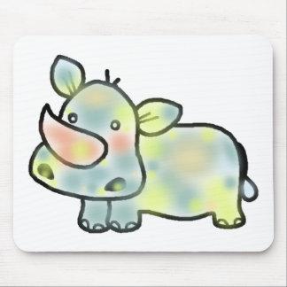 Cute hippopotamus mouse pad