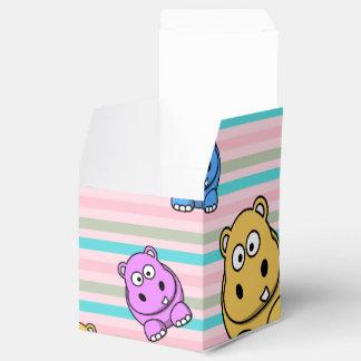 Cute Hippos Colourful Zoo Animal Theme for Favor Box